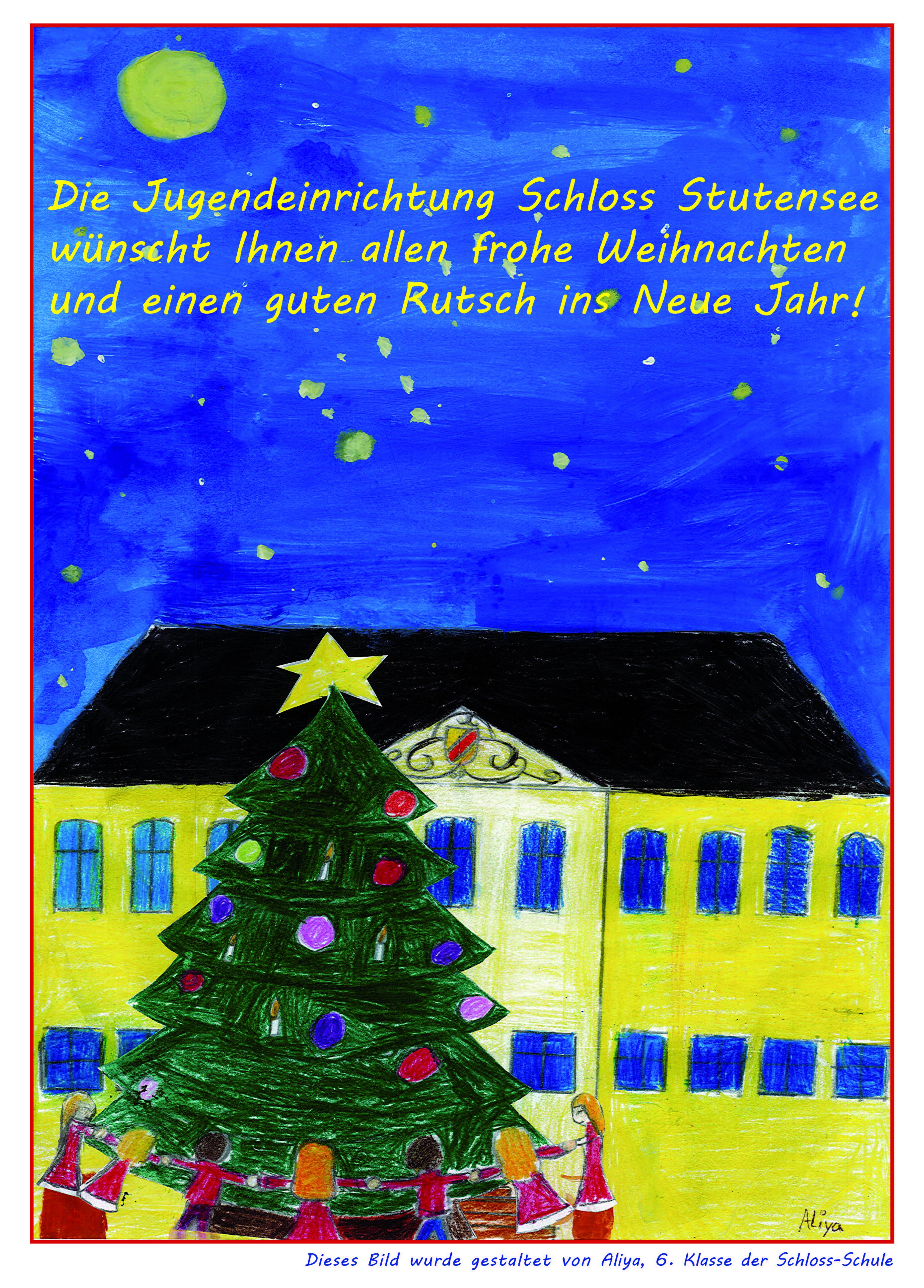 Frohe Weihnachtsgrüße.Frohe Weihnachten Jugendeinrichtung Schloss Stutensee Hilfe Für